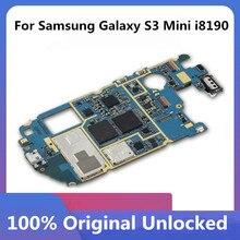 สำหรับSamsung Galaxy S3 Mini I8190 โทรศัพท์เมนบอร์ดปลดล็อคเมนบอร์ดพร้อมชิปOS Logic Boardทำงานดี