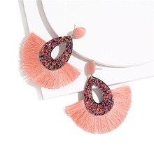 Bohemian Tassel Earrings Colorful Fringe Dangle Drop Statement  Summer Jewelry for Women
