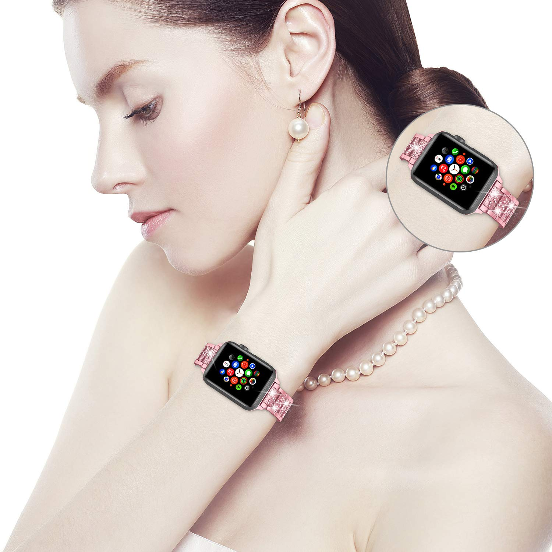 Diamond Band + case For Apple Watch 40mm 44mm 38mm 42mm iWatch series 5 4 3 2 1 bracelet apple watch stainless steel strap women 5