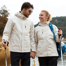 Spring Autumn Softshell Hiking Mens Jackets Womens Ski Suit Outdoor Camping Trekking Climbing Coat For Waterproof Windproof недорого