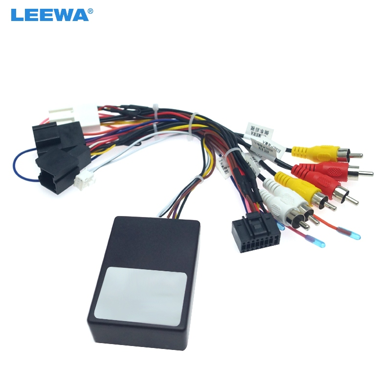 LEEWA Car Audio Radio Player 16PIN Android Power Calbe Adapter With Canbus Box For Chevrolet Kopacz Media Wiring Harness #CA6380