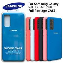 Galaxy s20fe caso original samsung s20 fe capa de silicone de seda de alta qualidade macio-toque de volta protetora galaxy sm g780f