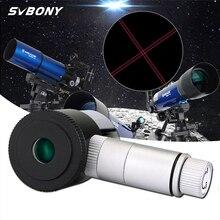 """SVBONY 1.25 """"مضيئة العدسة 12.5 مللي متر خط مزدوج عبر شبكاني العدسة 4 بلوسل تصميم 40 دي فوف الفلك تلسكوب F9132"""