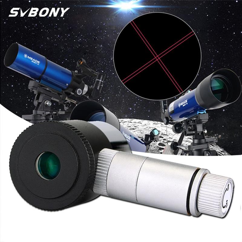 SVBONY 1 25inch Illuminated Eyepiece 12 5mm Double Line Cross Reticle Eyepiece 4 Plossl Design 40 De FOV Astronomy Telescope F9132