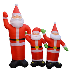 Inflatable Santa Claus Night Light Garden Toy Xmas Party Decor for Home New Year 120cm 180cm 300cm 1.2M 1.8M US EU Plug X006