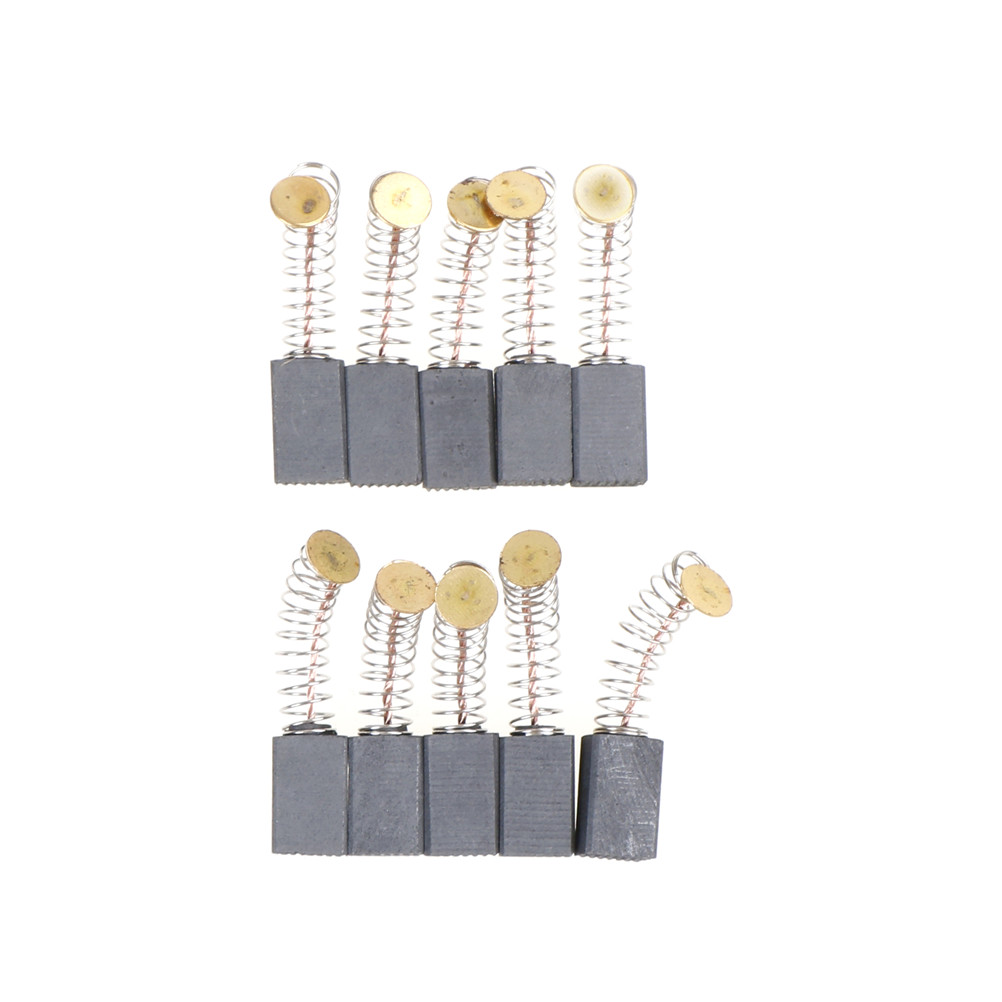Carbon Brushes Spare Parts Mini Drill Electric Grinder Replacement For Electric Motors Rotary Tool 6x10x17mm 10 pcs/bag