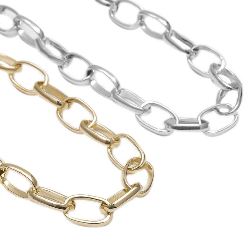 Dla kobiet moda Punk Chunky naszyjniki Choker naszyjnik obroża komunikat rocznika metali ciężkich naszyjnik biżuteria dziewczęca prezent