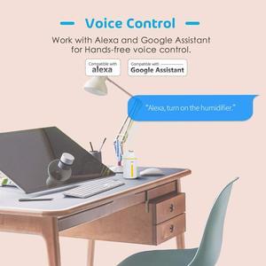 Image 2 - Смарт увлажнитель воздуха 320 мл, холодный туман, работает с Amazon Alexa, Google Assistant, для детской комнаты, автомобиля
