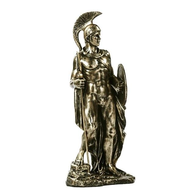 Ancient Greek Spartan Warrior Sculpture Handmade Resin Fighter 6