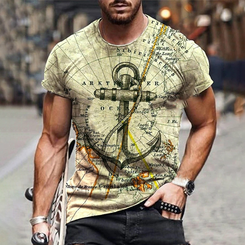 New style hot sale in 2021, 3D men's T-shirt, gentleman style design, short sleeves, summer fashion - mens-fashion