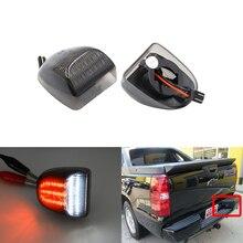 Белый/красный светодиодный фонарь для номерного знака для Chevrolet Silverado 1500 2500 3500 HD для Sierra 1500 2500 3500 Yukon XL Tahoe Avalanche