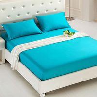 샌딩 침대 커버 솔리드 컬러 매트리스 커버 침대 버그 증거 먼지 진드기 매트리스 패드 커버 매트리스 홈 호텔 장식 섬유