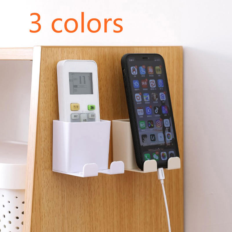 Cell Phone Holder Wall Mount Bracket No Drilling Phone Saving Charging Support title=