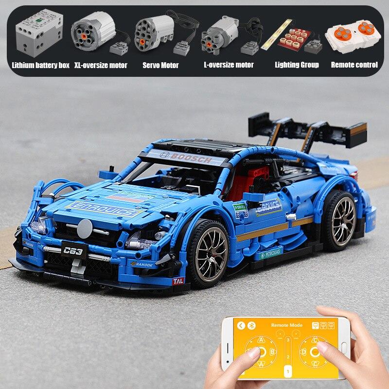 Yeshin 20005 DHL Technik Series Kompatibel Mit MOC 6687 Blau Geschwindigkeit Auto Set Bausteine Ziegel App Control RC Autos Modell-in Sperren aus Spielzeug und Hobbys bei  Gruppe 3