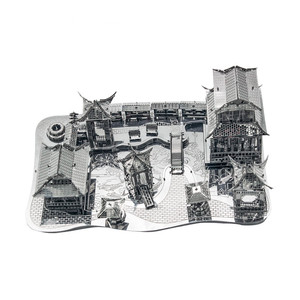 3D Metal Puzzle China Suzhou Traditional Garden Building Diy 3D Nano Model Kits Laser Cut Assemble Jigsaw Adult Gifts Toys(China)