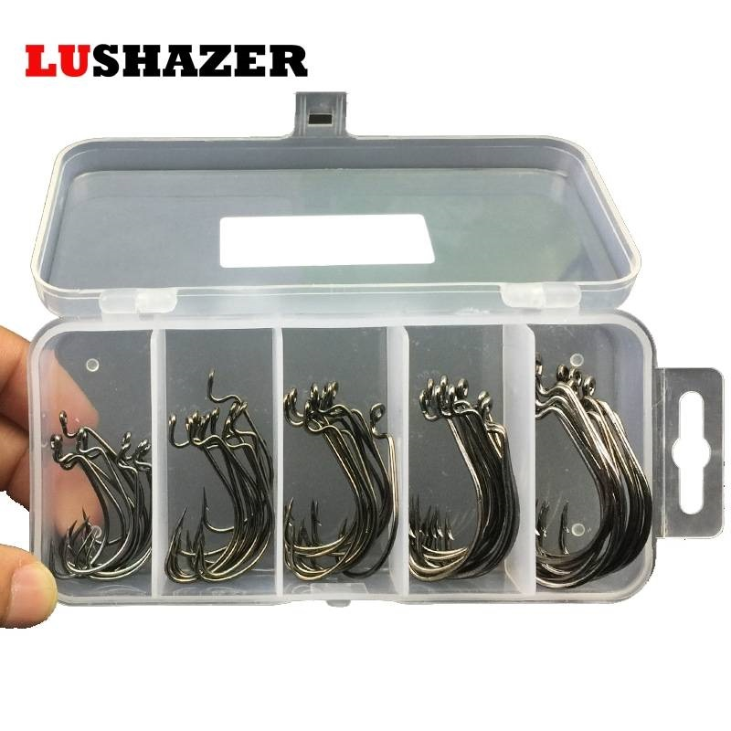50pcs/100pcs sea hooks Fishing box LUSHAZER offset hook 2# 3/0# carp snap fishing big hooks tackles accessories fishhook|accessories mirror|accessories for 7 tabletsaccessories visor - AliExpress