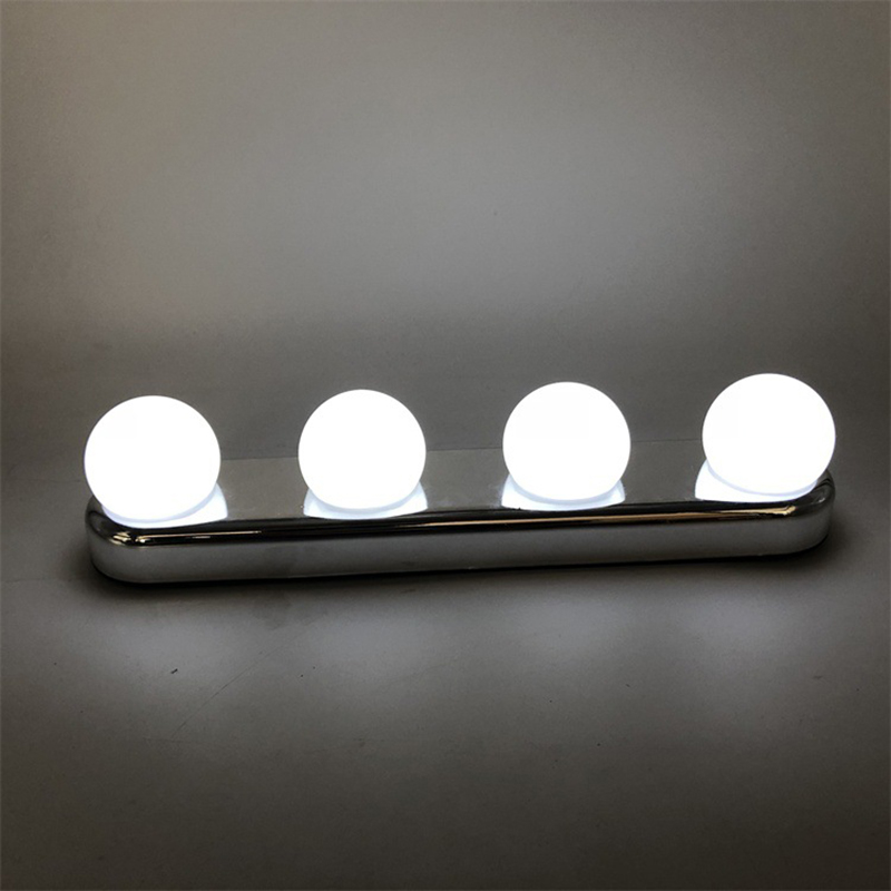 Bathroom Led Vanity Light Makeup Mirror Light Bulb Hollywood Vanity Lights Stepless Dimmable Wall Lamp 4 Bulbs Kit New Led Indoor Wall Lamps Aliexpress