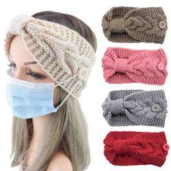 2020 dzianinowa opaska turban na głowę dla kobiet nowe zimowe opaski do włosów dla kobiet dziewczynki akcesoria do włosów węzeł elastyczne opaski do włosów nakrycia głowy Hot