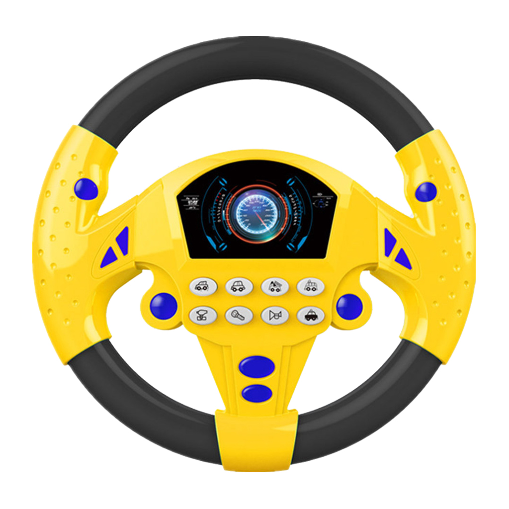 2Pieces Simulated Driving Controller Portable Driving Steering Wheel Children's Educational Toy Gift Funny Interactive Kids Toy