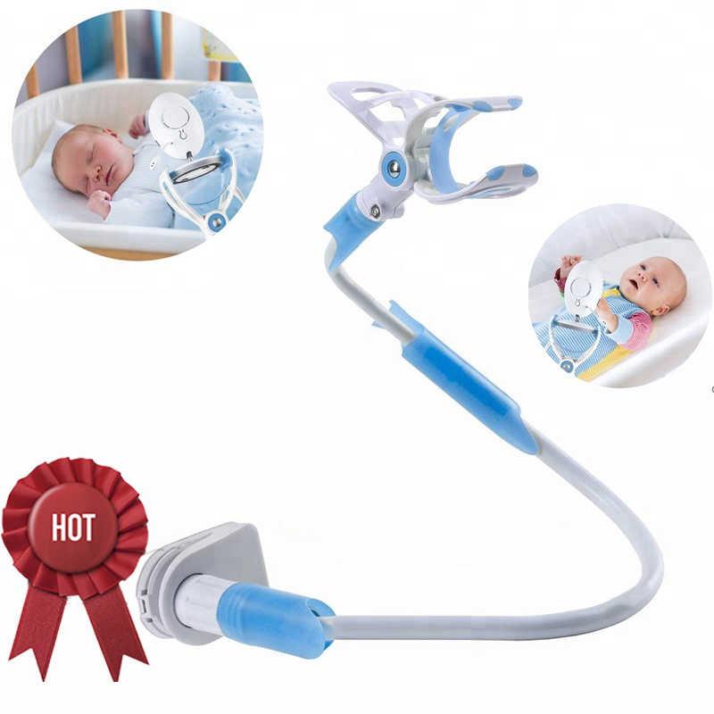 Suporte universal do monitor do bebê preguiçoso cama berço braço longo ajustável 85cm clipe ajustável-tipo de segurança e durável suporte da câmera