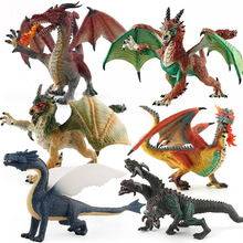 1pcs DIY tiamat toy winged dragons classic toys for children dinosaur action figures