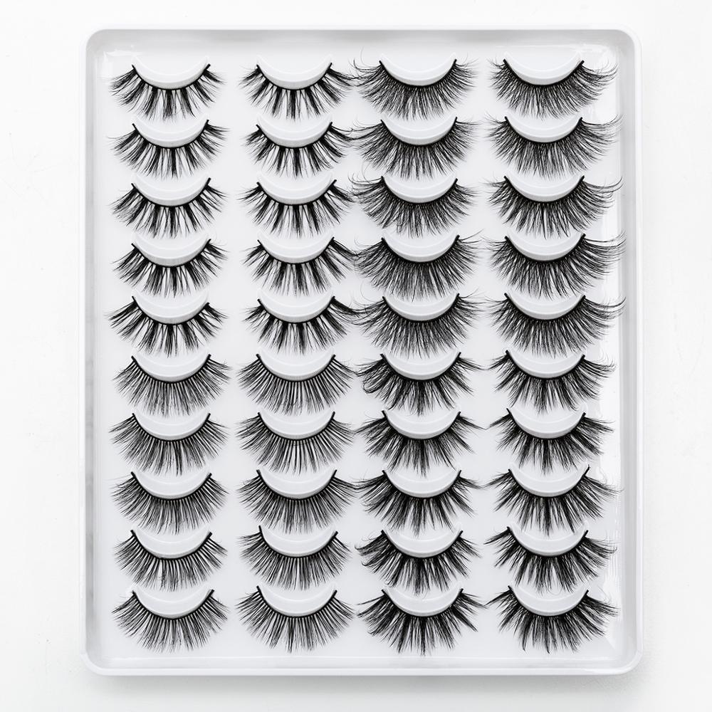SEXYSHEEP 2/8/20 pairs 15-20mm natural 3D false eyelashes fake lashes makeup kit Mink Lashes extension mink eyelashes maquiagem 4