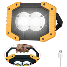 Portable LED Worklight Rechargeable AA Battery COB Floodlight Work Light Led Lantern Outdoor 18650 USB Work Light Rechargeable
