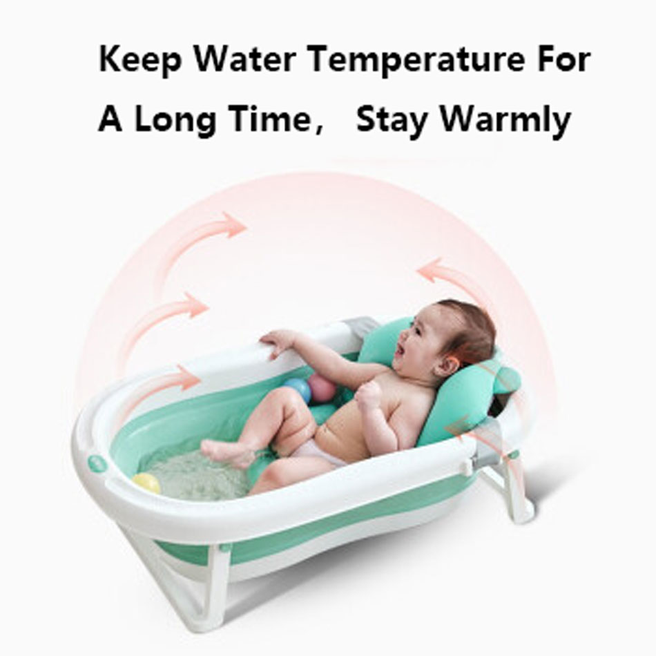 Easy Folding Baby Bath Tub With Non slip Cushion For Safe New Born Baby Bath Tub 3