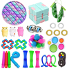 28Pcs Fidget Squeeze Toys Sets Kids Adult Simple Dimple Stress Relief Toy Kits Develop Children's Creations Visual Training Toy