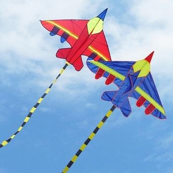 1 PC New Nylon Airplane Shape Kites Outdoor Kites Flying Toys Kite For Children Kids Boys Girls 1