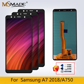 Original LCD For SAMSUNG Galaxy A7 2018 SM-A750F A750F A750 LCD Display Touch Screen For Samsung A7 2018 Display