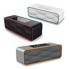 Portable Travel Wireless Speaker Stereo Strong Enhanced Bass HIFI Speaker FM Radio With Built-in Mic AUX Line-in(China)