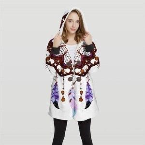 Image 5 - 2019 chaqueta Bomber de talla grande con capucha Convertible con estampado 3d para mujer, 100% Tops de poliéster, chaqueta suave para mujer, diseño al cliente Wy23