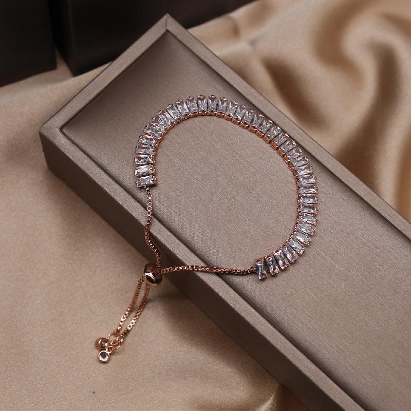 2020 Korean new design fashion jewelry full crystal adjustable bracelet shiny zircon ball party bracelet for women
