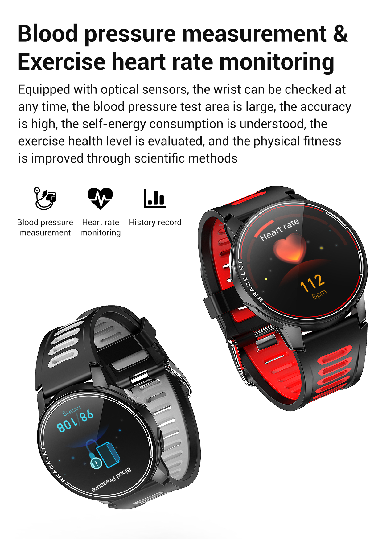 H12f6a0ae5851481da1c7f7a223dc0914G 2020 New L6 Smart Watch IP68 Waterproof Sport Men Women Bluetooth Smartwatch Fitness Tracker Heart Rate Monitor For Android IOS