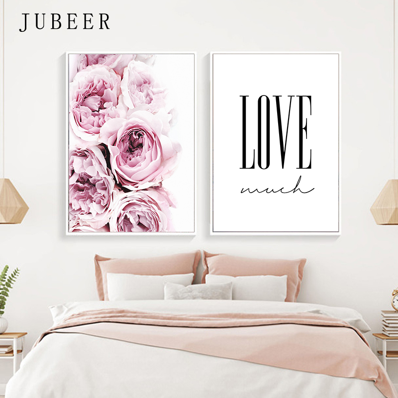 Nordic Style Posters and Prints Flowers Wall Pictures for Living Room Feather Decorative Picture Canvas Prints Home Decor in Painting Calligraphy from Home Garden