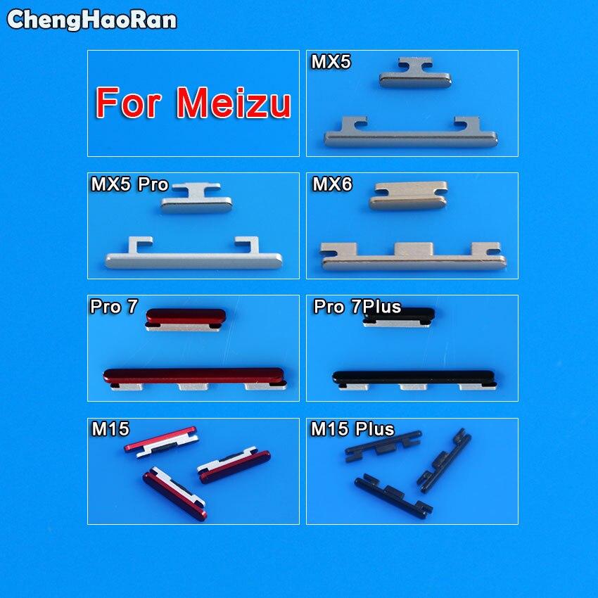 ChengHaoRan For Meizu MX5 Pro MX6 Pro7 Pro 7Plus M15 Plus Power On Off Button + Volume Button Side Button Set Replacement