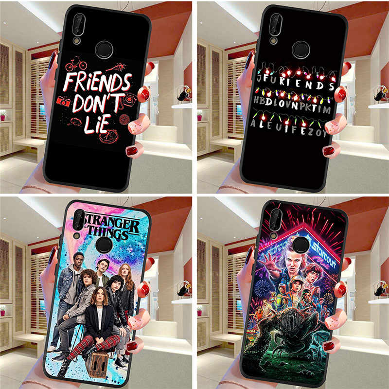 stranger things For Huawei P8 P10 P20 P30 Mate 10 20 Honor 8 8X 8C 9 V20 20i 10 Lite Plus Pro Case Cover Coque Etui capa funda