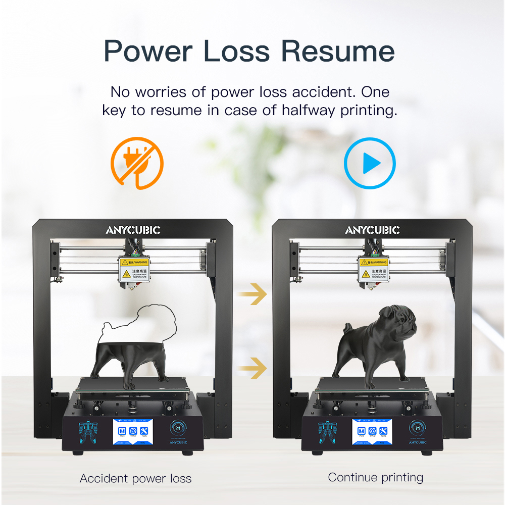 Image 2 - ANYCUBIC 3D Printer I3 Mega Impresora 3D DIY Kit Full Metal Large Printing Size Touch Screen LCD Filament 8G SD Card 3d Drucker-in 3D Printers from Computer & Office