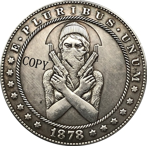 Hobo Nickel 1878-CC USA Morgan Dollar COIN COPY Type 184(China)