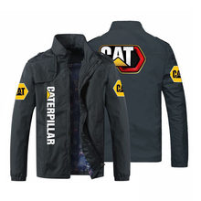 Negócios casual logotipo personalizado stand-up colarinho lado costura bolso em linha reta bainha masculina e feminina moda casual zíper jaqueta M-5XL *
