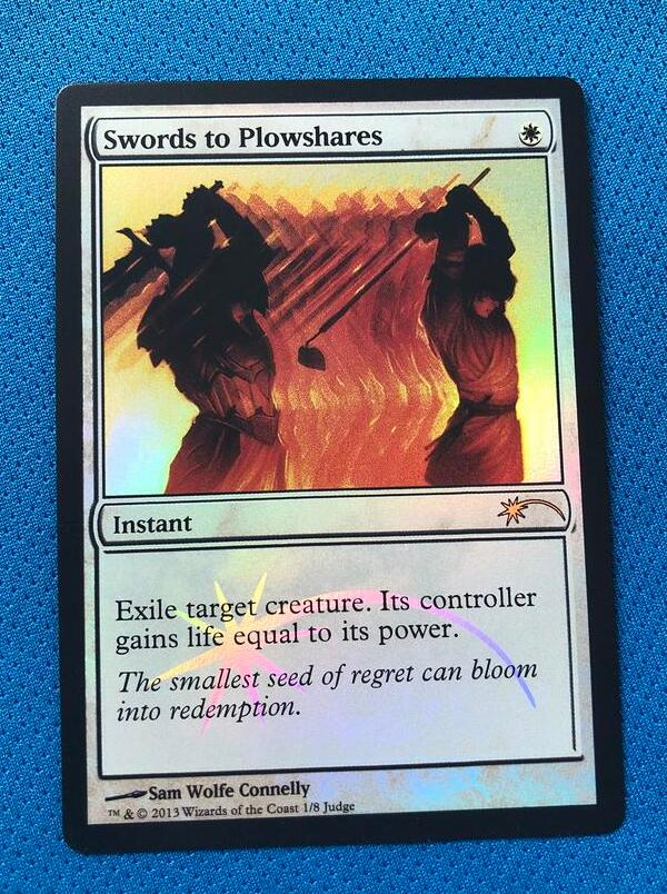 Swords To Plowshares Judge Gift Cards 2013 Foil Magician ProxyKing 8.0 VIP The Proxy Cards To Gathering Every Single Mg Card.