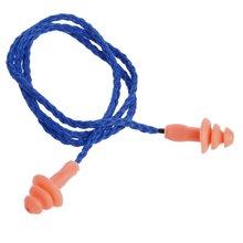 Мягкие силиконовые затычки для ушей хлопковые защиты слуха с