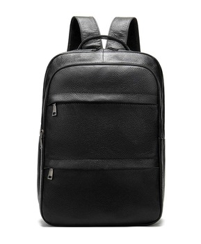 2019 New Male Fashion Casual Bag Men  Waterproof Backpack for Travel Quality PU Leather Backpacks Laptop Computer Bookbag