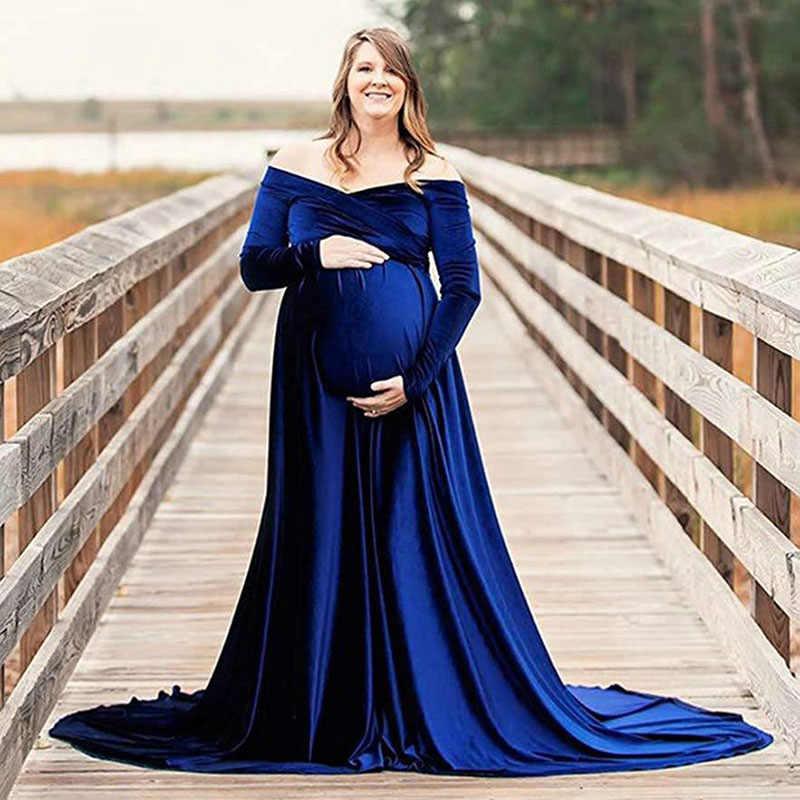 Velvet Maternity GownMaternity DressBaby shower dressMaternity photo shoot dressvelvet maternity dresshunter greenvelvet maternity