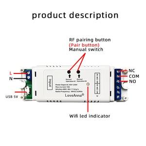 Image 4 - EweLink Phát Wifi 2 channal tiếp DC 7 32V/AC 220V Xe máy Màn công tắc Inching Khóa Liên Động tự khóa nhà thông minh Wifi module