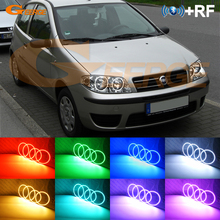 Điều Khiển Từ Xa RF Bluetooth Ứng Dụng Nhiều Màu Cực Sáng RGB LED Đôi Mắt Thiên Thần Bộ FIAT PUNTO 188 Mk2 2003 Trên Căng Da Mặt Đèn Pha