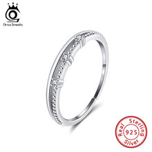 ORSA JEWELS 925 Sterling Silver Open Cocktail Rings AAAA Cubic Zircon Female Adjustable Wedding Ring Fashion Party Jewelry SR161(China)