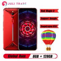 """Versión Global Nubia magia roja, 3 6,65 """"Snapdragon 855 Octa core frente 48MP trasero 16MP 8GB 128GB 5000mAh juego smartPhone"""
