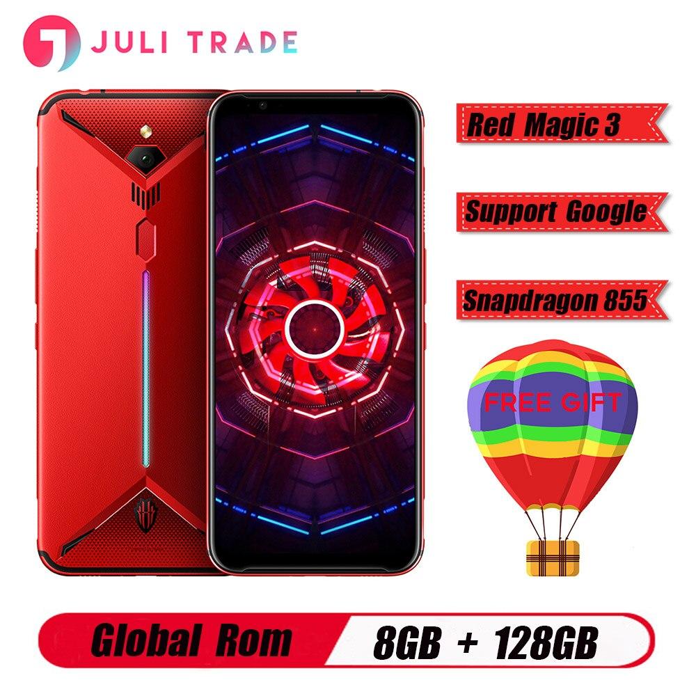 """Version mondiale Nubia rouge magique 3 6.65 """"Snapdragon 855 Octa core avant 48MP arrière 16MP 8GB 128GB 5000mAh jeu smartPhone"""